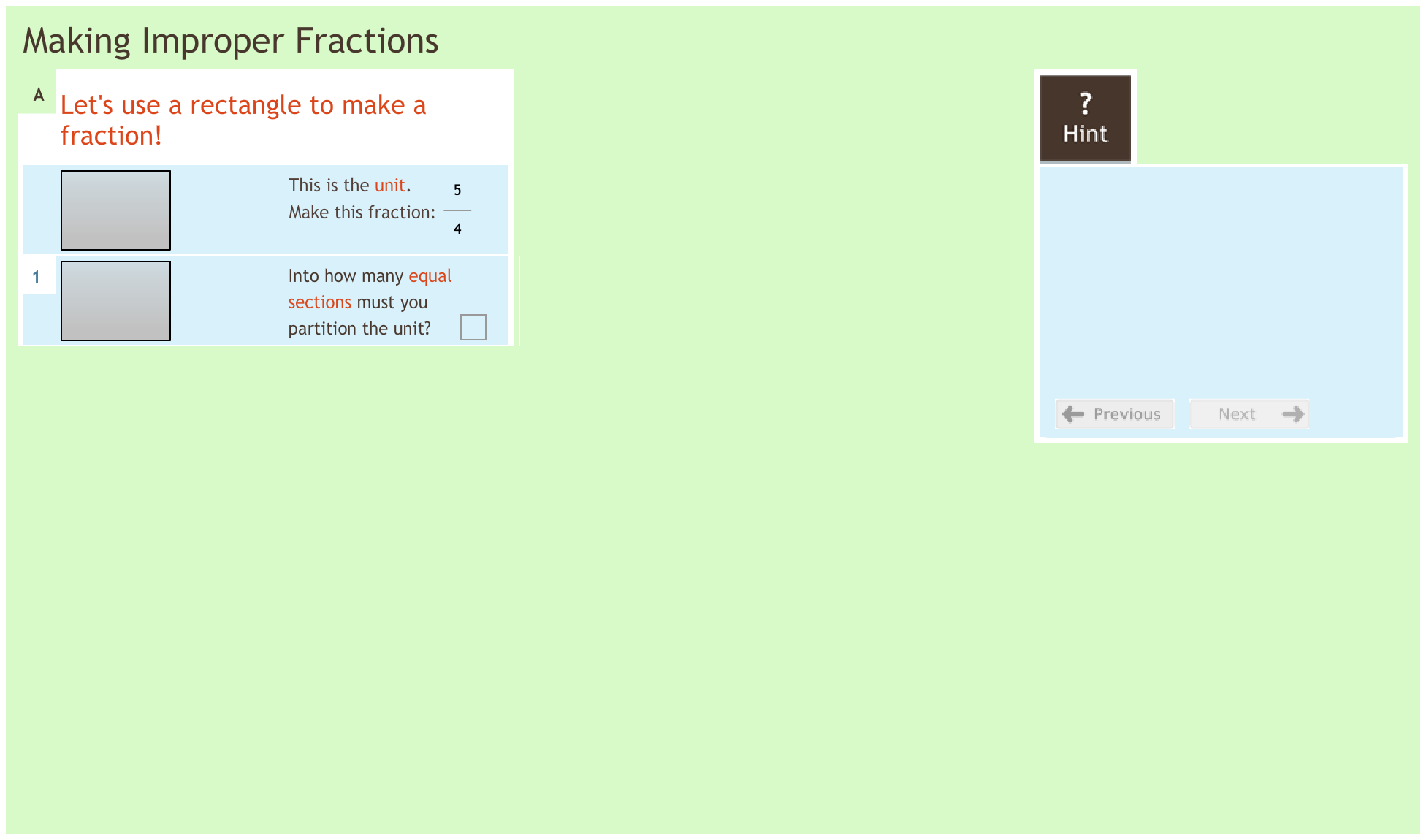 Fractions 1.5 Making improper fractions