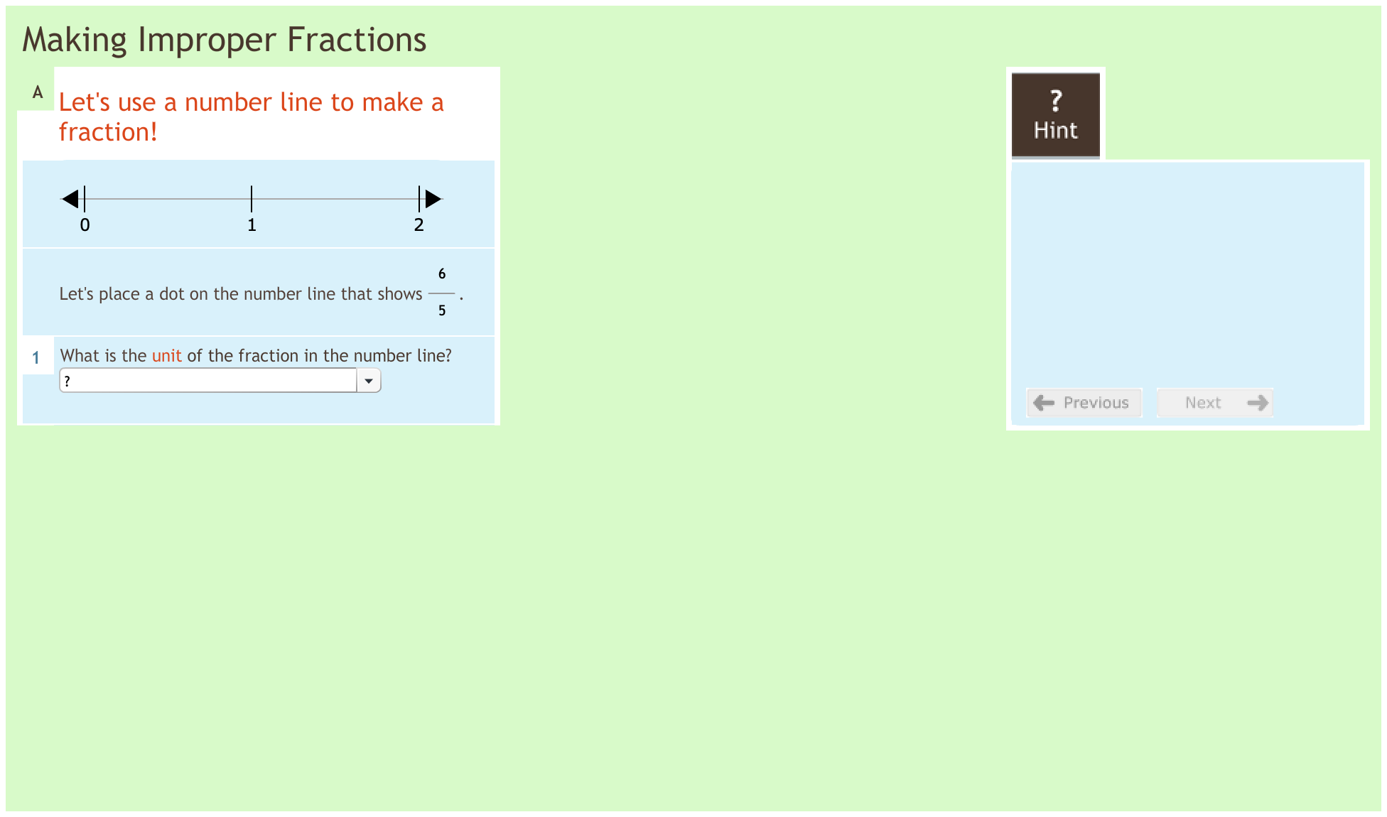 Fractions 2.5 Making improper fractions