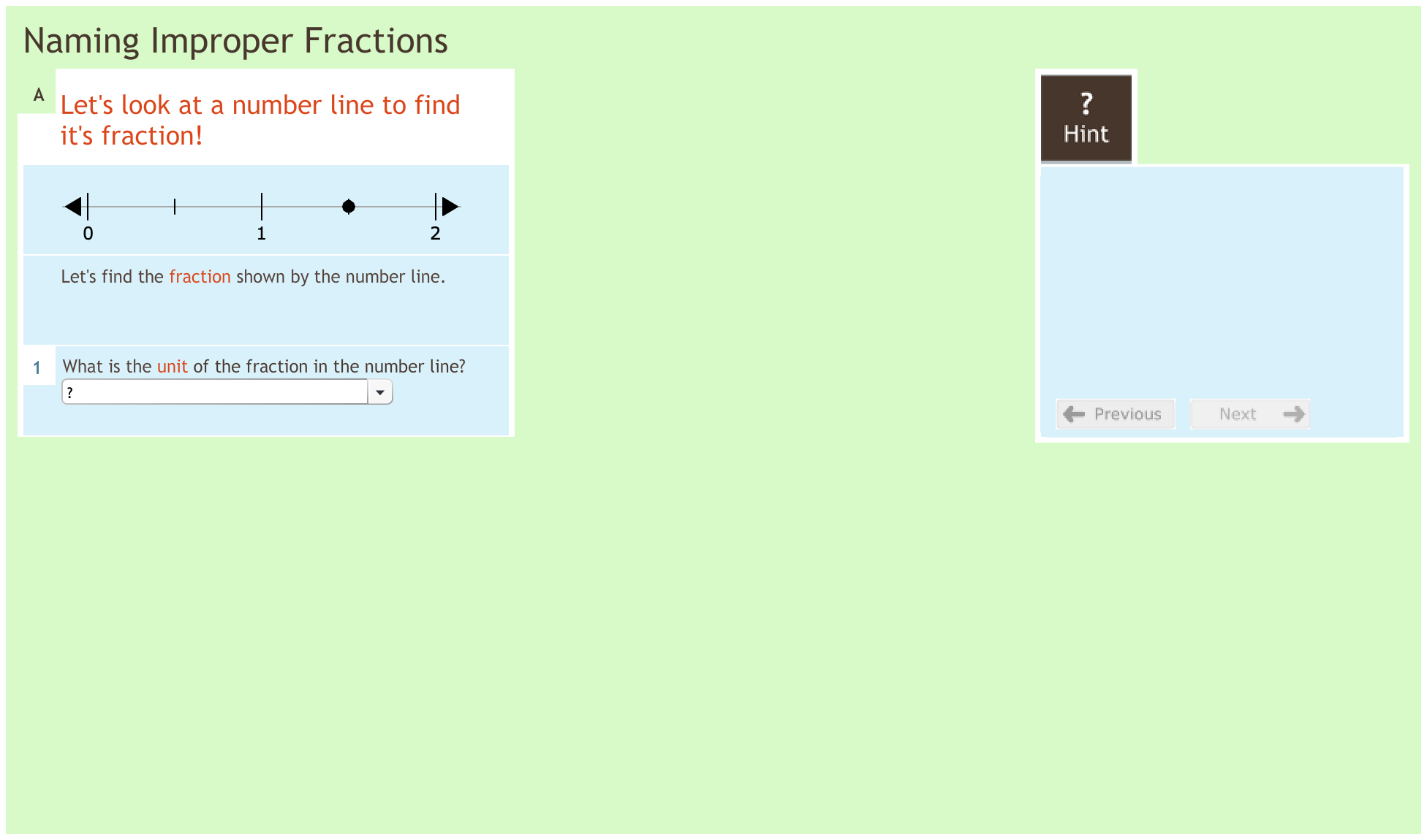Fractions 3.4 Naming improper fractions